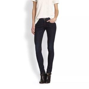 Rag & Bone Sz. 26 Olive Harrow Skinny Dark Jeans